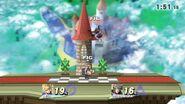 Combate entre dos amiibo - Super Smash Bros. for Wii U