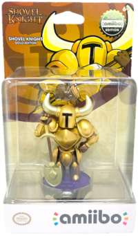 Embalaje del amiibo de Shovel Knight (edición oro) - Serie Shovel Knight