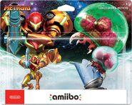 Embalaje americano del pack de Metroide y Samus Aran - Serie Metroid