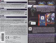 Dorso folleto informativo europeo tarjeta Mewtwo Oscuro Serie Pokkén Tournament