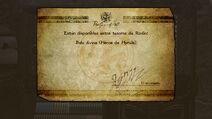 Mensaje de desbloqueo de la Bala divina Héroe de Hyrule - Bayonetta 2