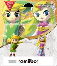 Embalaje americano pack amiibo Toon Link y Zelda – The Legend of Zelda - 30 aniversario TLoZ