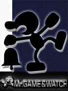 Art oficial de Mr. Game & Watch en Super Smash Bros. Melee