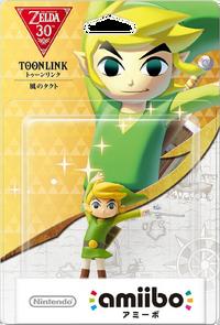 Embalaje japonés del amiibo de Toon Link (The Wind Waker) - Serie 30 aniversario TLoZ