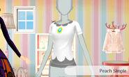 Peach sencillo - Nintendo presenta New Stlye Boutique 3 Estilismo para celebrities