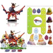Elementos del diorama de Monster Hunter Stories