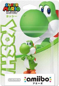 Embalaje japonés del amiibo de Yoshi - Serie Super Mario