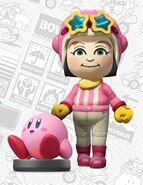 Mii usando el atuendo de Kirby - Mario Kart 8