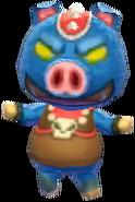 Aldeano Ganon en Animal Crossing New Leaf - Welcome amiibo