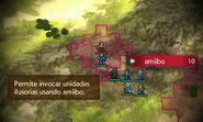 Menú de invocación de amiibo en batalla - Fire Emblem Echoes Shadows of Valentia