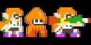 Traje de Inkling chica - Super Mario Maker