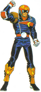 Artwork de Captain Falcon en F-Zero