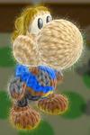 Patrón Espadachín Mii - Yoshi's Woolly World