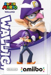 Embalaje europeo del amiibo de Waluigi - Serie Super Mario