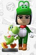 Mii usando el atuendo de Yoshi - Mario Kart 8