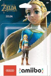 Embalaje americano del amiibo de Zelda - Serie The Legend of Zelda
