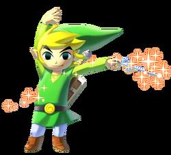 Toon Link en The Legend of Zelda The Wind Waker HD
