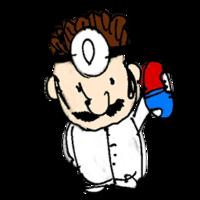 Retrato amiibo de Dr. Mario - WarioWare Gold