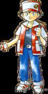 Artwork del Entrenador Pokémon (Rojo) en los primeros juegos de Pokémon