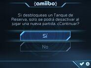 Pantalla de confirmación de Tanque de Reserva - Metroid Samus Returns