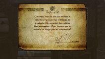 Mensaje de Rodin al escanear un amiibo de Samus - Bayonetta 2