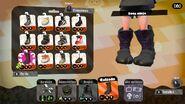 Detalle de la bota ninja - Splatoon 2