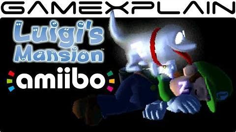 Scanning amiibo in Luigi's Mansion 3DS Polterpup Cameo! (Luigi, Mario, Toad, & Boo amiibo!)
