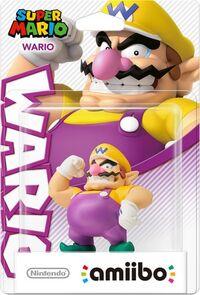 Embalaje europeo del amiibo de Wario - Serie Super Mario