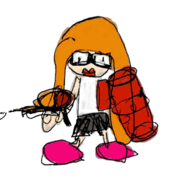 Retrato amiibo de Inkling chica - WarioWare Gold