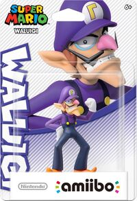 Embalaje americano del amiibo de Waluigi - Serie Super Mario