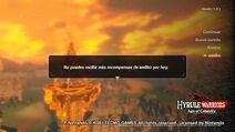 Pantalla de límite diario de escaneos (América) - Hyrule Warriors La era del cataclismo
