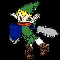 Retrato amiibo de Link - WarioWare Gold