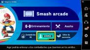 Opción amiibo en el menú del juego (3.0.0) - Super Smash Bros. Ultimate