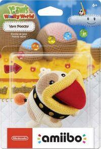 Embalaje americano del amiibo de Poochy de lana - Serie Yoshi's Woolly World