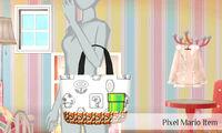 Mario pixelado objetos - Nintendo presenta New Stlye Boutique 3 Estilismo para celebrities