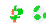 Traje de Mega Yoshi de lana - Super Mario Maker