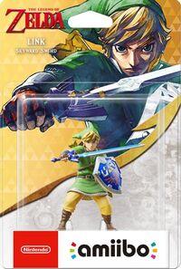 Embalaje europeo del amiibo de Link (Skyward Sword) - Serie 30 aniversario TLoZ