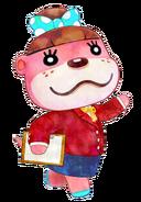 Nuria en Animal Crossing Happy Home Designer