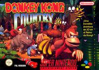Caja de Donkey Kong Country (Europa)