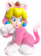 Peach Felina en Super Mario 3D World