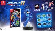 Imagen promocional de la Edición amiibo de Mega Man 11 en América