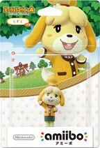 Embalaje japonés del amiibo de Canela - Serie Animal Crossing