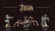 Imagen promocional de los tres amiibo de The Legend of Zelda Breath of the Wild