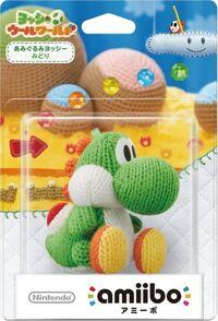 Embalaje japonés del amiibo de Yoshi de lana verde - Serie Yoshi's Woolly World