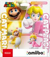 Embalaje NTSC del pack de Mario Felino y Peach Felina - Serie Super Mario