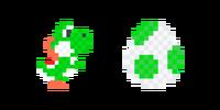 Traje de Yoshi de lana verde - Super Mario Maker