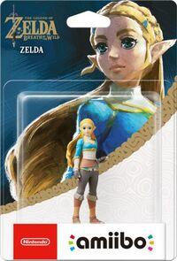 Embalaje europeo del amiibo de Zelda - Serie The Legend of Zelda