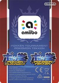 Reverso amiibo Mewtwo Oscuro (Europa) - Serie Pokkén Tournament