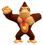 Calcomanía brillante de Donkey Kong - Super Mario Party
