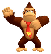 Calcomanía brillante de Donkey Kong - Super Mario Party